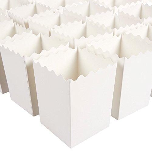 ck Popcorn Favor Boxen–Klauenhammer, Mini Papier Container, Party Supplies für Film Nächte, Karneval Parteien, Baby Duschen und Bridal White 7,6x 10,2cm (Popcorn-boxen-baby-dusche)