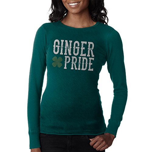 Old Glory St. Patricks Tag Ginger Pride Junioren Langarm Thermo Teal MD (Design-junioren Tee Tag)