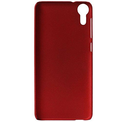 Johra For HTC Desire 10 LifeStyle Back Cover, Slim Matte Finish Rubberized Red Hard Back Case Cover for HTC 10 LifeStyle Back Cover