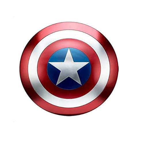 LZH Capitán América Escudo Full Metal 1 A 1 Personaje De Marvel Portátil Accesorios Creativos De Dibujos Animados Decoración Modelo 47,5 Cm