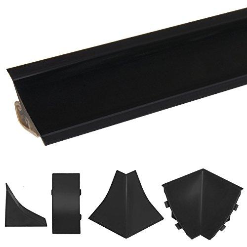 HOLZBRINK Innenecke passend zum Dekor Ihrer Abschlussleisten Schwarz Innenkante PVC...