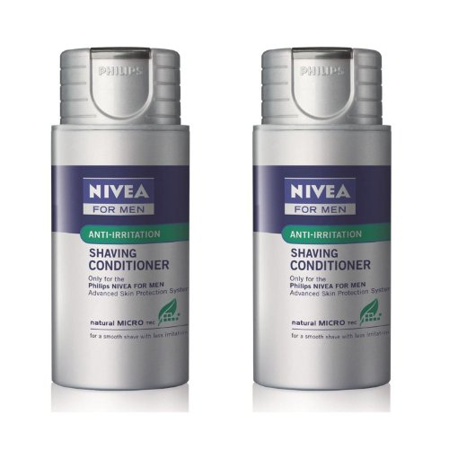 Philips NIVEA Shaving conditioner HS800 with Natural MICRO tec - PACK OF 2