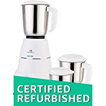(Certified REFURBISHED) Bajaj Rex 500-Watt Mixer Grinder with 3 Jars (White)