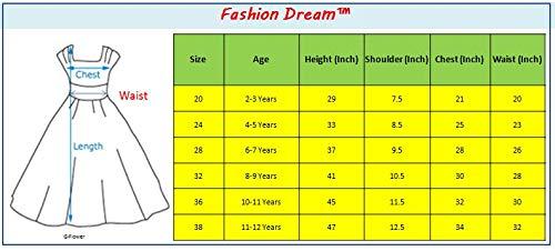 Fashion Dream Baby Girls Birthday Long Frock Dress (Size 8-9 Year Girls) Red