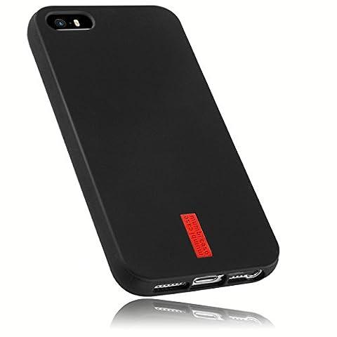 mumbi TPU Silikon Schutzhülle iPhone SE 5S 5 Hülle in schwarz