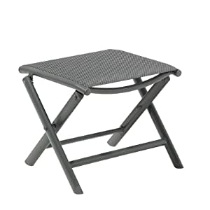 tabouret de jardin pliable faro gris anthracite tabouret. Black Bedroom Furniture Sets. Home Design Ideas
