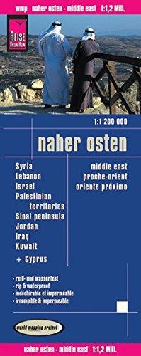 Reise Know-How Landkarte Naher Osten  (1:1.200.000) : Syrien, Libanon, Israel, Sinai Halbinsel, Jordanien, Irak, Kuwait: world mapping project