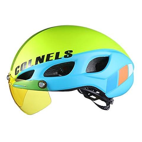 Lei HuanLeBao Fahrradhelm Professionelle hochwertige Sonnenschutzcreme mit Goggles Reithelm , m