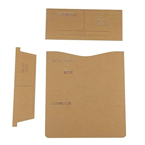 Set Werkzeug DIY XBC-07 Lange Geldbörse Muster Acryl Schablone Schablone Leder Handwerk, DIY Einfache Lange Brieftasche Farbe Leder Optionale Hand Holding Lady Wallet -