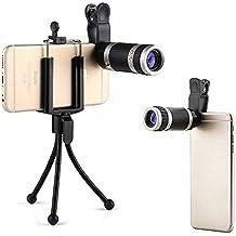 LANDNICS - Kit Lentes de Movíl 3 en 1, Mini Trípode Objetivo + 8X18 Lente Zoom Óptico Mini Monocular + Clip-On para iPhone Samsung Galaxy Huawei Blackberry Sony Xperia
