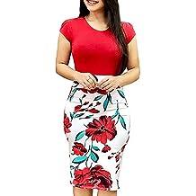 Vestidos Mujer Casual 2019-Ronamick Sexy Mini Vestido vestidos de fiesta mujer cortos (rojo