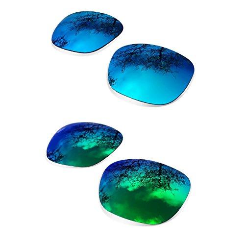 sunglasses restorer Kompatibel Ersatzgläser für Oakley Holbrook , Polarisierte Ice + Fire Iridium