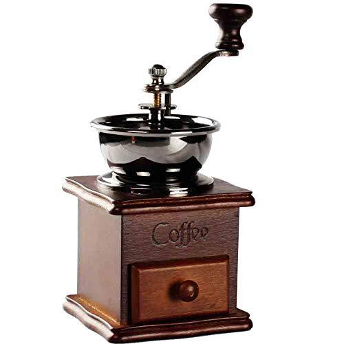 QMOS Vintage manuelle Kaffeemühle