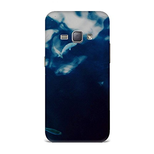 Samsung J1 2016 Case, Samsung J1 2016 Hard Protective SLIM Printed Cover [Shock Resistant Hard Back Cover Case] for Samsung J1 2016 - Water Lake Fish Nature Indigo Blue  available at amazon for Rs.375