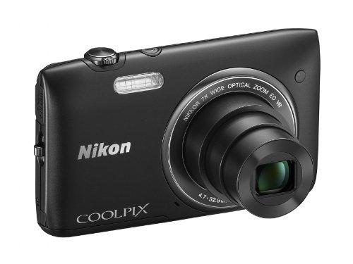 Nikon Dsc Coolpix (Nikon Coolpix S3500 Digitalkamera (20 Megapixel, 7-Fach optischer Zoom, 6,7 cm (2,7 Zoll) TFT-LCD, bildstabilisiert) schwarz)