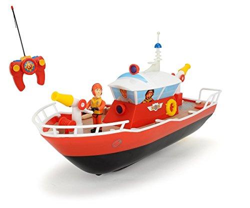 feuerwehrmann sam ferngesteuert Dickie Toys 203099621 - RC Feuerwehrmann Sam Titan, funkferngesteuertes Boot mit verschiedenen Funktionen, 29 cm