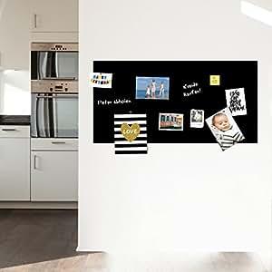 g nstig tafelfolie magnetisch selbstklebend mit 10 neodym magneten 100x50cm schwarz. Black Bedroom Furniture Sets. Home Design Ideas