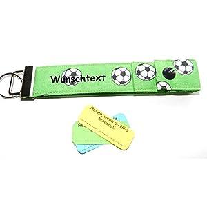 Schulanfang Geschenk SOS Schlüsselanhänger Fußball personalisierbar Geschenk für Schulkinder Kinder Schulanfänger Mitgebsel Kindergeburtstag Fußballverein