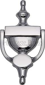 Heurtoir en forme d'urne Finition :  chromée polie, de Dimensions :  19,5 x 19,5 cm (L)