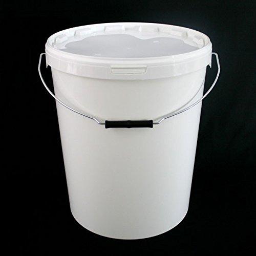 27,5litros hermético alimentos grado blanco Catering