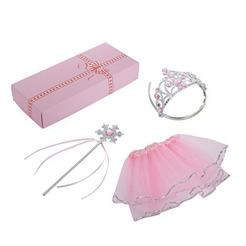 Shayson Prinzessin Dress up Set Fairy Prinzessin Kostüm Mädchen Party Gefälligkeiten Play Set (Kronen, Stäbe und Rock)