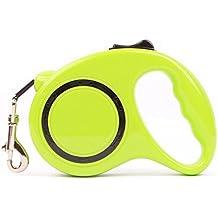 Goodid correa restráctil automática extensible nylon resistenble 3/5M para mascotas perro o gato hasta 20kg (Verde, 3M)
