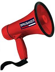 BrubakerMegáfonocon funciones para hablar y sirena, rojo