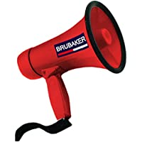 Megáfono Brubaker, funcioneshablar y sirena, rojo
