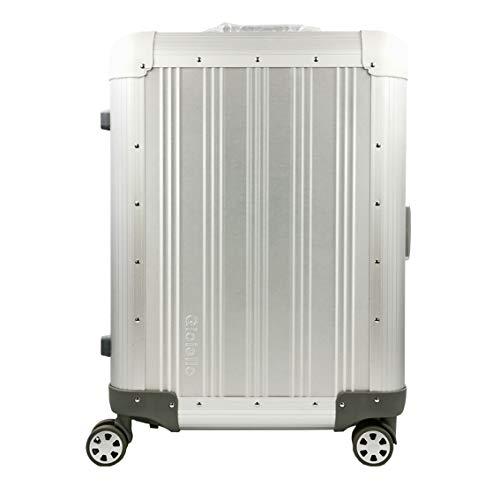 Designer GIOIELLO Trolley Koffer Aluminium Reisekoffer Reisetasche Silber Cabin