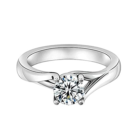 Gnzoe Women Wedding Ring Personality Creative Cubic Zirconia Ring Sterling Silver Ring