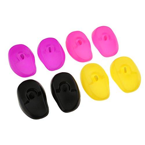 8pcs Dusche Wasser Gehörschutz Abdeckungen Cap Silikon Haarfärbemittel