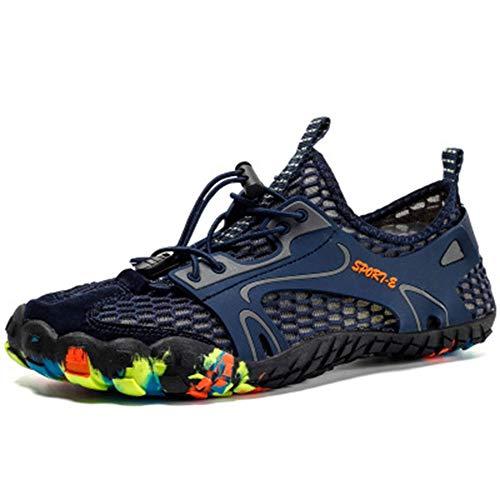 Sneakers da Uomo e da Donna ad Asciugatura Rapida Scarpe da Acqua Leggere e Resistenti Piscina Surf da Spiaggia Yoga Sport Acquatici Nautica Blu 41