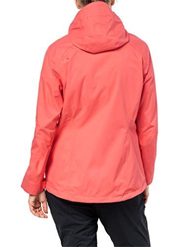 Jack Wolfskin Arroyo Hardshelljacke Damen, Wetterschutz Funktionsjacke für Damen, wasserdichte, winddichte & atmungsaktive Regenjacke, Outdoorjacke mit angenehmer Passform, lachsfarben - 2