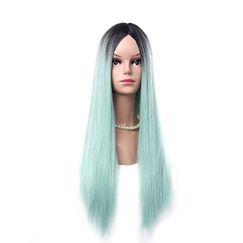 Cosplay Perücke für Mädchen und Frauen, 68 cm lang, mehrfarbig, tolle Haarperücke für ()