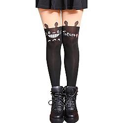 Surenow Medias con impresión Mujer Niña Calcetínes Largos Legging Tights