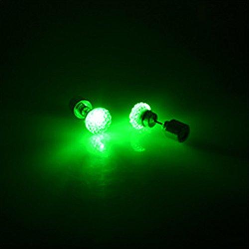 qhgstore-1pair-orecchini-led-luce-incandescente-bling-lucido-cristallo-dellorecchio-orecchino-verde