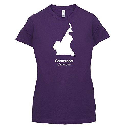 Cameroon / Kamerun Silhouette - Damen T-Shirt - 14 Farben Lila