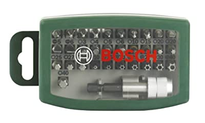 Bosch 2607017063 Screwdriver Bit Set, 32 Pieces