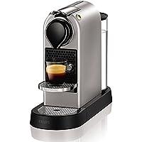 Nespresso XN740B40 Silver Krups Citiz Flow Stop-Cafetera monodosis (19 Bares, Bandeja extraíble), titán, 1260 W, plástico