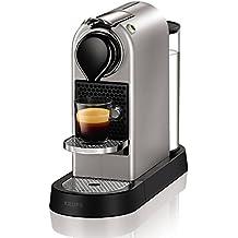 Nespresso XN740B40 Silver Krups Citiz Flow Stop-Cafetera monodosis (19 Bares, Bandeja extraíble
