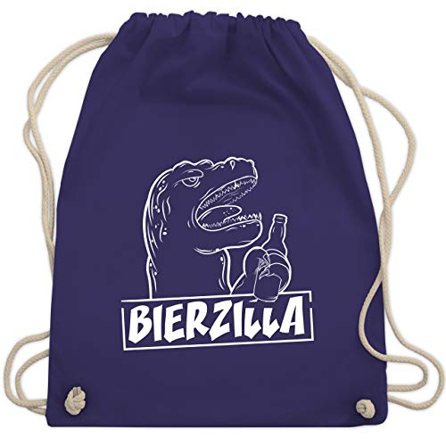 Halloween - Bierzilla - Unisize - Lila - WM110 - Turnbeutel & Gym Bag