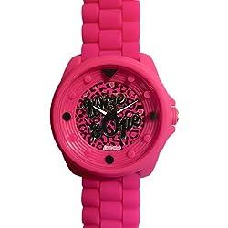 Wize &Ope-BIG - 13-Biggy-Kleintierheim-Armbanduhr Analog Silikon, Rosa