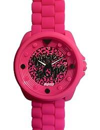 Wize & Ope  0 - Reloj de cuarzo unisex, con correa de silicona, color rosa