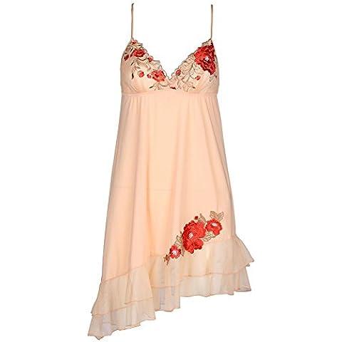 La ropa interior atractiva de lujo/falda de encaje bordado de flores grandes colgante/ vestido atractivo