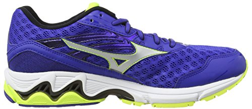 Mizuno Wave Inspire 12 Herren Laufschuhe Blue (Surf the Web/Silver/Safety Yellow)