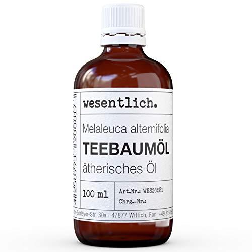 Teebaumöl- reines ätherisches Öl von wesentlich. - 100% naturrein aus der Glasflasche (100ml)