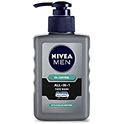 Nivea Men Oil Control All In One Face Wash Pump, 150ml