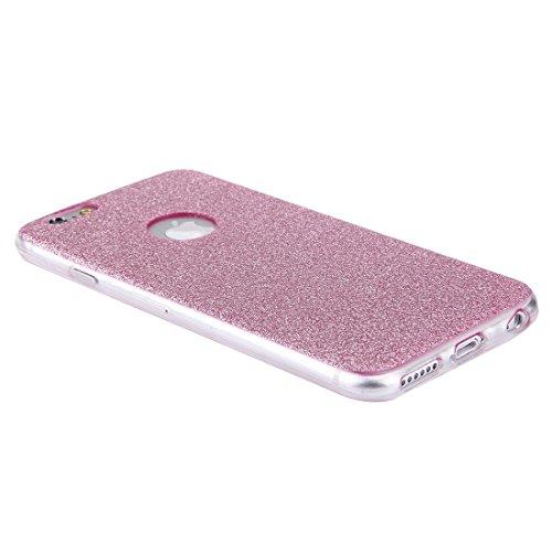YAN Für iPhone 6 / 6s, Glitter Powder Soft TPU Schutzhülle ( Color : Rose gold ) Pink