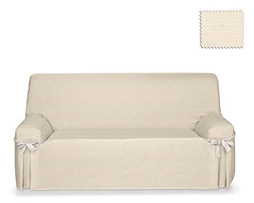 Jm textil fodera per divano con lacci tika dimensione 1 posto (da 80 a 120 cm.), colore unico