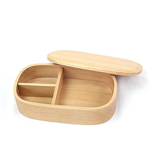 iBaste Brotkasten Aus Holz Schale mit Deckel Brotbox mit 3 Fäche Lunchbox Brotdose Brotaufbewahrungsbehälter-B-18cmx10cmx5cm